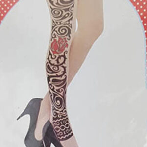 גרבי ברך קעקוע: גרביונים לנשים איכותיות עד הברך עם קעקועים