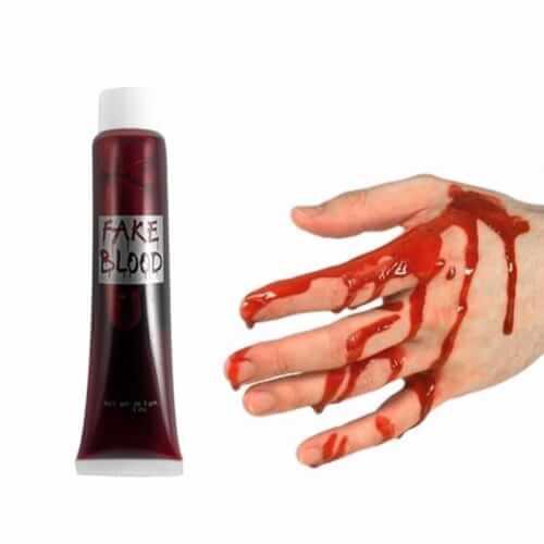 דם מזויף : דם מלאכותי בבקבוק קטן