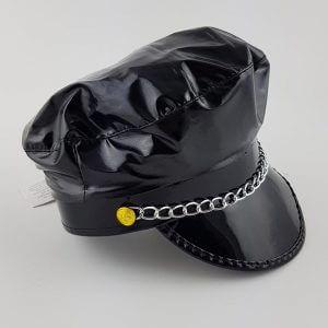 כובע שוטר שחור כובע לתחפושת שוטר או שוטרת