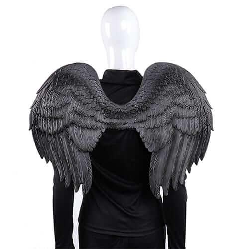 כנפיים מלאך שחור PU