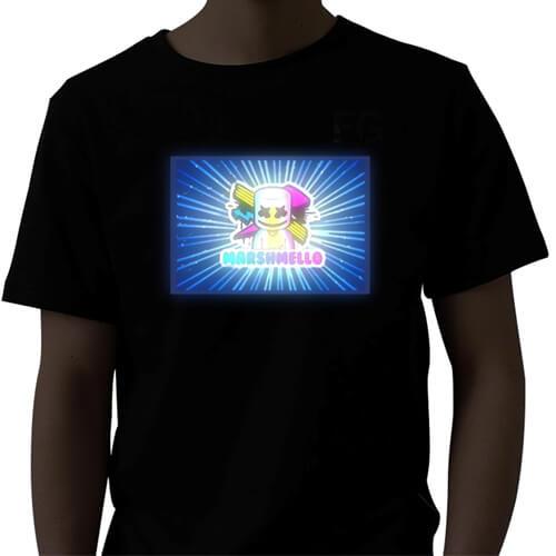 חולצה אקולייזר די ג'י מרשמלו Lighting LED Shirt –  דגם מרשמלו