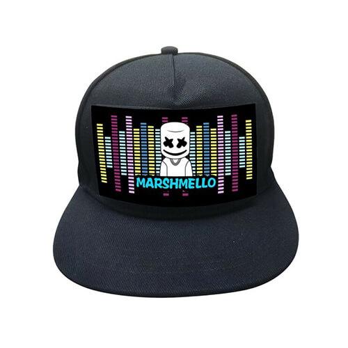 כובע אקולייזר די ג'י מרשמלו Lighting LED cap –  דגם DJ מרשמלו