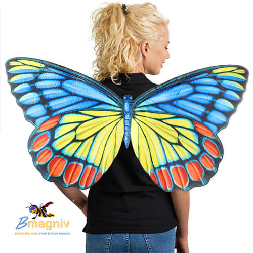 כנפיים פרפר צבעוניות מפוארות : עשויות מחומר איכותי וקל PVC