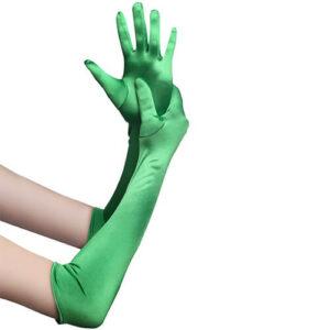 כפפות ירוקות מבריקות סטן