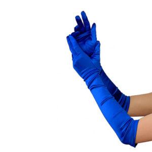 כפפות כחולות ארוכות סטן
