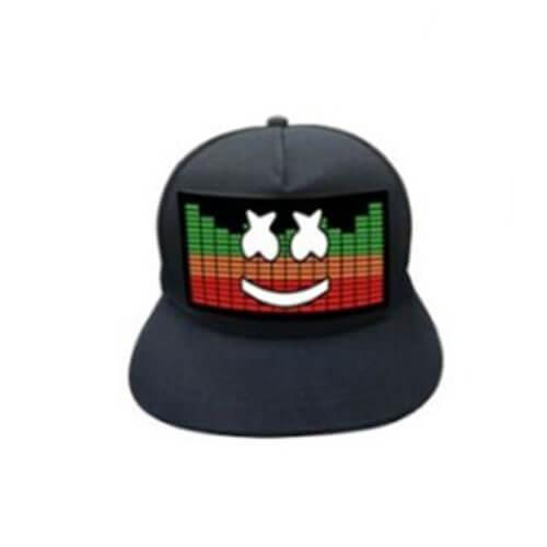 כובע אקולייזר מרשמלו Lighting LED cap –  דגם מרשמלו