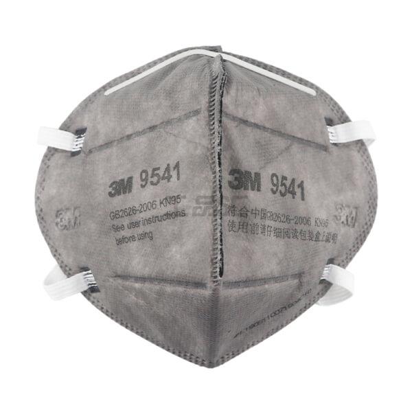 מסכה הגנה 3M מקצועית עם שכבת פחם נגד קורונה : מארז 25 נשמיות דגם 9541