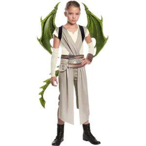 סט דרקון ירוק 3 חלקים מסכה כנפיים וזנב דגם חדש 2021