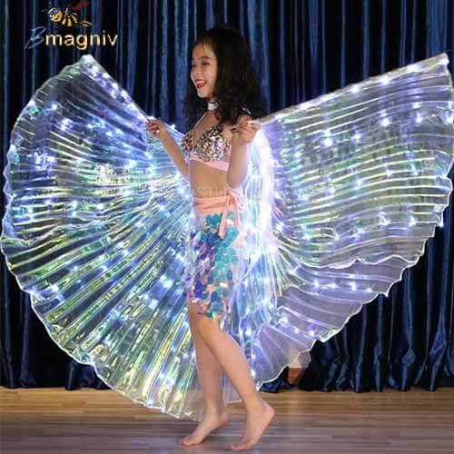 גלימה עם אורות לריקוד לילדה